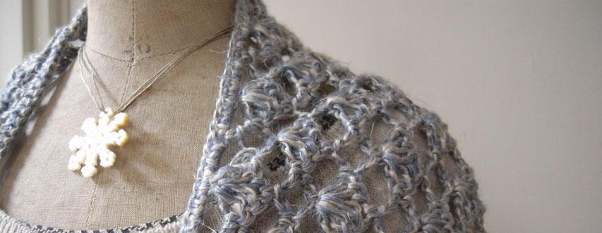 リネン糸編み物のセット