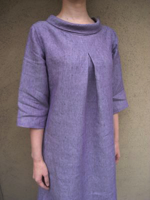 Pattern No 77 A Line Tunic With Roll Collar