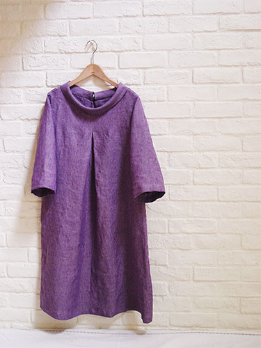 Pattern No 77 A Line Tunic With Roll Collar No 77 Ã�ールカラーのa