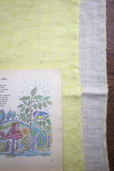 Photo LINNET Linen Double Gause WW lime