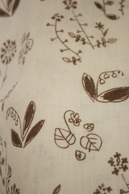Printed Linen wild flowers