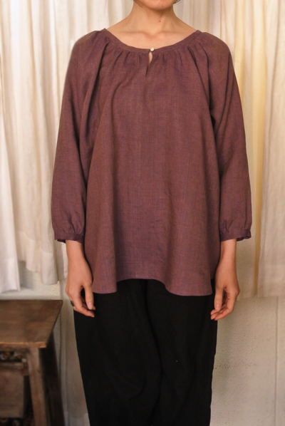 No.107 Raglan sleeves blouse photo front body