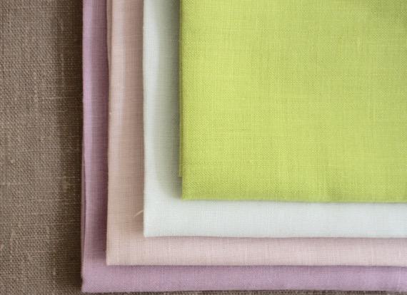 Linen linen print Rosedot