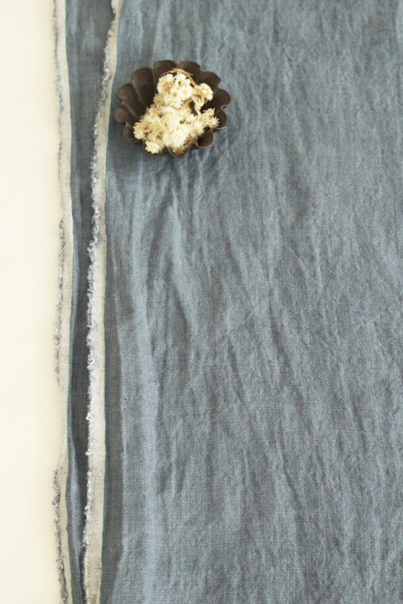 one washed linen Kelly ワンウォッシュ リネン ケリー ブルーグレー
