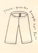 No.47 Three Quarter Length Easy Pants 七分丈パンツ型紙